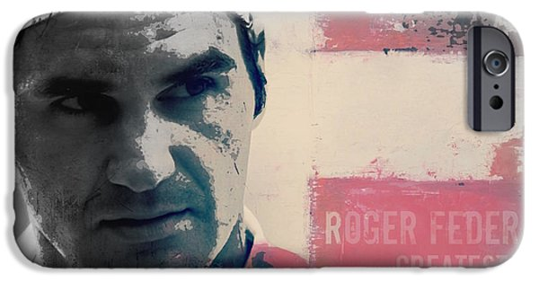 Tennis iPhone 6s Case - Roger Federer  by Paul Lovering
