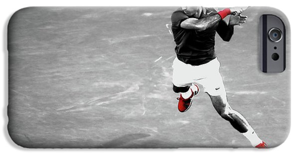 Venus Williams iPhone 6s Case - Roger Federer Powerful Return by Brian Reaves