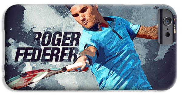 Serena Williams iPhone 6s Case - Roger Federer by Semih Yurdabak