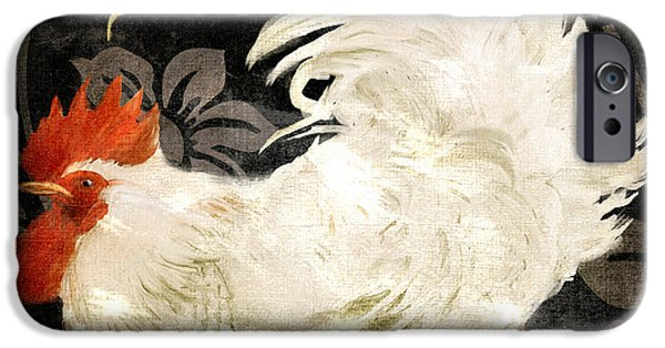 Rooster Damask Dark IPhone 6s Case