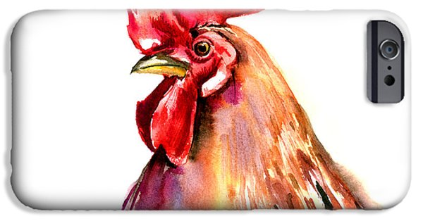 Rooster Portrait IPhone 6s Case by Suren Nersisyan