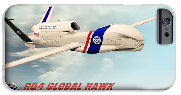 Rq4 Global Hawk Drone United States IPhone 6s Case by John Wills