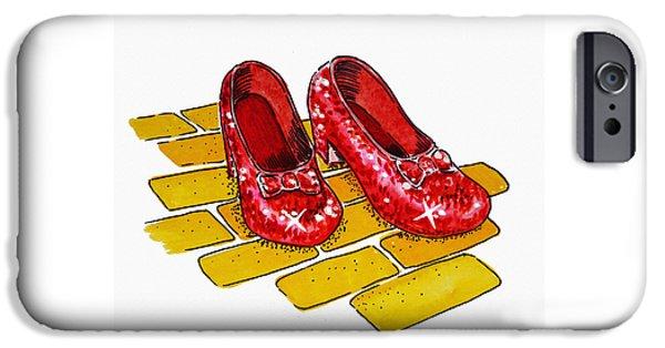 Wizard iPhone 6s Case - Ruby Slippers The Wizard Of Oz  by Irina Sztukowski