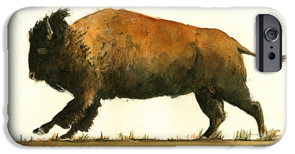 Running American Buffalo IPhone 6s Case by Juan  Bosco