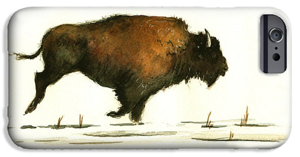 Running Buffalo IPhone 6s Case by Juan  Bosco