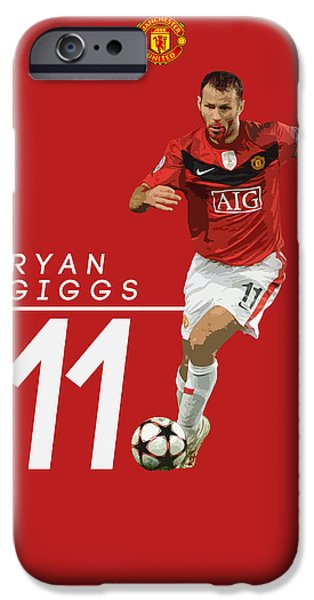 Ryan Giggs IPhone 6s Case by Semih Yurdabak