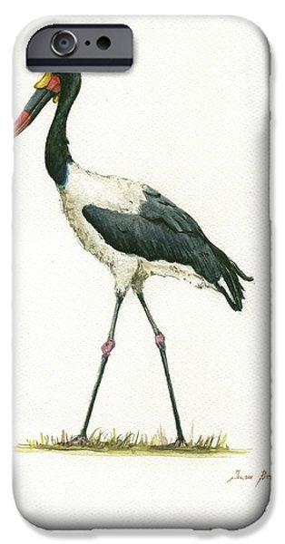 Crane iPhone 6s Case - Saddle Billed Stork by Juan Bosco