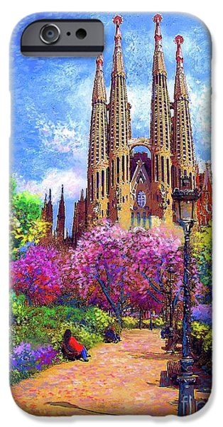 Sagrada Familia And Park,barcelona IPhone 6s Case by Jane Small