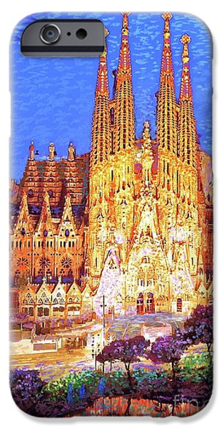 Barcelona iPhone 6s Case - Sagrada Familia At Night by Jane Small