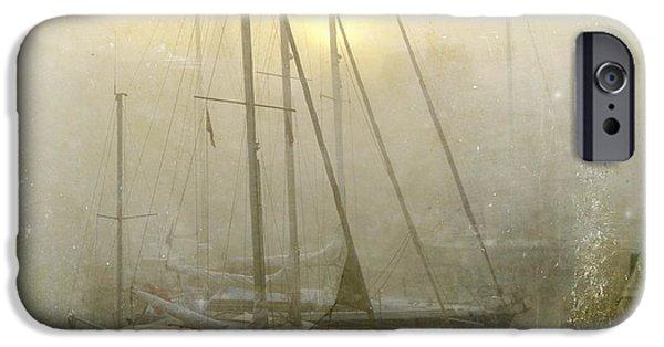 Boat iPhone 6s Case - Sailboats In Honfleur. Normandy. France by Bernard Jaubert