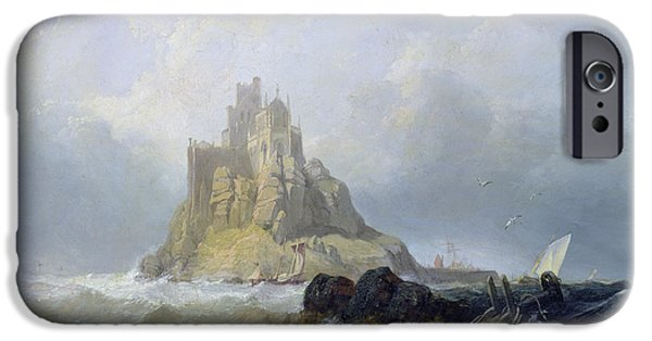 Saint Michael's Mount In Cornwall  IPhone Case by William Clarkson Stanfield