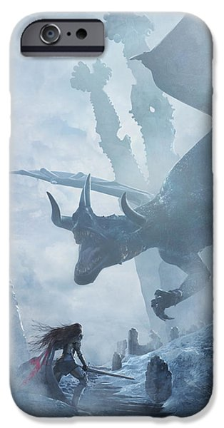 Knight iPhone 6s Case - Santa Georgina Vs The Dragon by Guillem H Pongiluppi