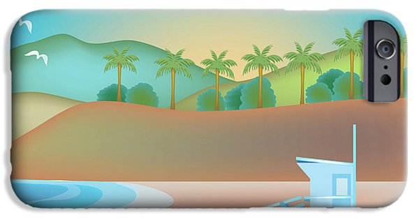Santa Monica iPhone 6s Case - Santa Monica California Horizontal Scene by Karen Young