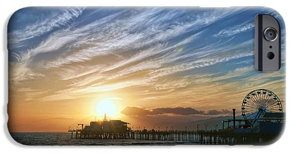 Santa Monica iPhone 6s Case - Santa Monica Pier by Eddie Yerkish