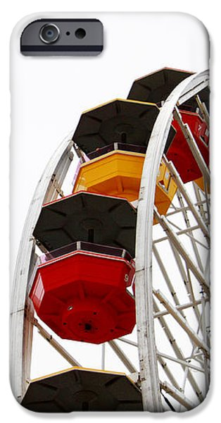 Santa Monica iPhone 6s Case - Santa Monica Pier Ferris Wheel- By Linda Woods by Linda Woods