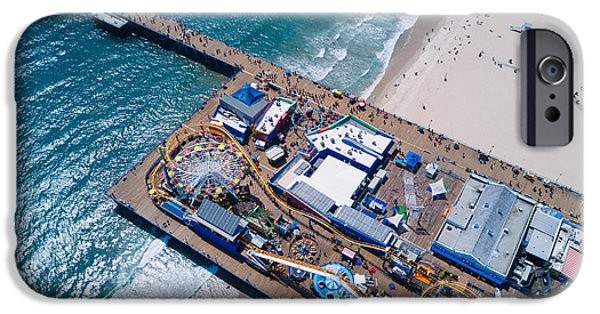 Santa Monica iPhone 6s Case - Santa Monica Pier From Above Side by Andrew Mason
