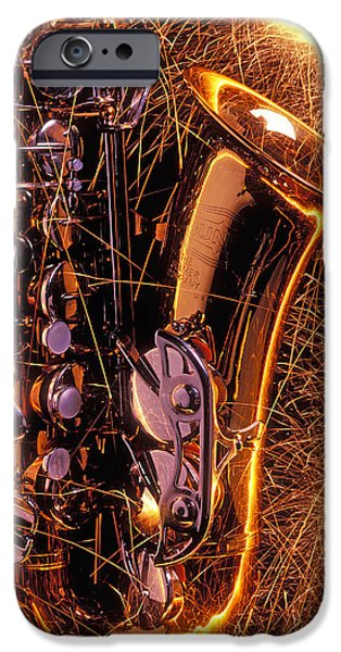 Saxophone iPhone 6s Case - Sax With Sparks by Garry Gay