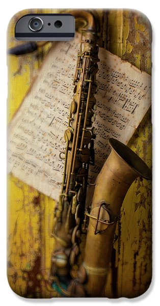 Saxophone Hanging On Old Wall IPhone 6s Case