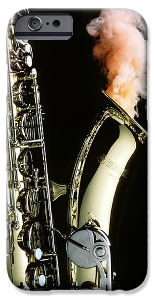 Saxophone iPhone 6s Case - Saxophone With Smoke by Garry Gay