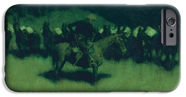Scare In A Pack Train IPhone 6s Case by Frederic Remington