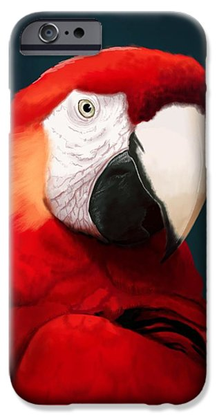 Scarlet iPhone 6s Case - Scarlet Macaw by KC Gillies