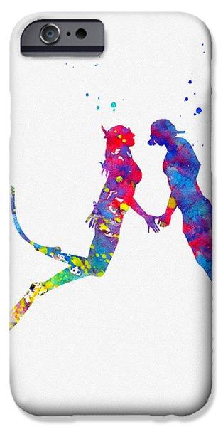 Scuba Diving iPhone 6s Case - Scuba Divers Couple 2 by Erzebet S