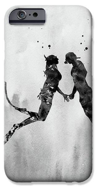 Scuba Diving iPhone 6s Case - Scuba Divers Couple-black 2 by Erzebet S