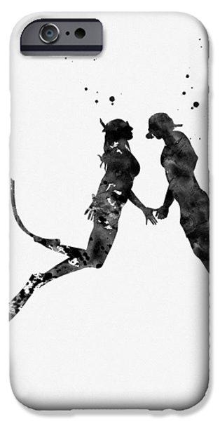 Scuba Diving iPhone 6s Case - Scuba Divers Couple-black by Erzebet S