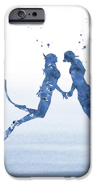 Scuba Diving iPhone 6s Case -  Scuba Divers Couple-blue by Erzebet S