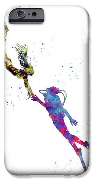 Scuba Diving iPhone 6s Case - Scuba Divers by Erzebet S