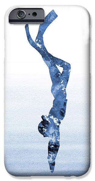 Scuba Diving iPhone 6s Case - Scuba Diving-blue 1 by Erzebet S