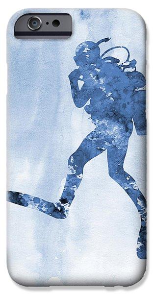 Scuba Diving iPhone 6s Case - Scuba Diving-blue 2 by Erzebet S
