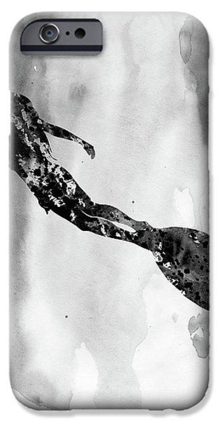 Scuba Diving iPhone 6s Case - Scuba Diving Girl-black by Erzebet S