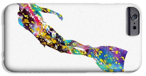 Scuba Diving iPhone 6s Case - Scuba Diving Girl-colorful by Erzebet S