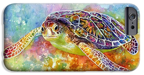 Swimming iPhone 6s Case - Sea Turtle 3 by Hailey E Herrera
