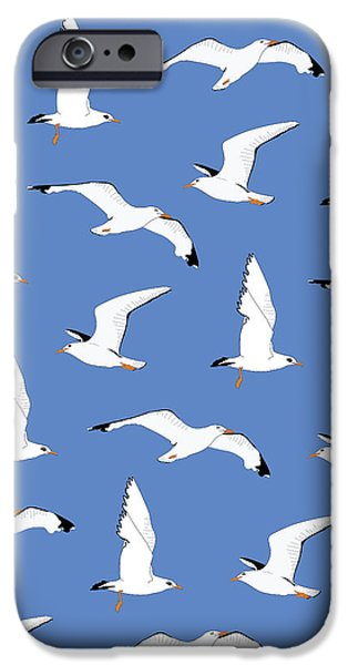 Seagulls Gathering At The Cricket IPhone 6s Case by Elizabeth Tuck