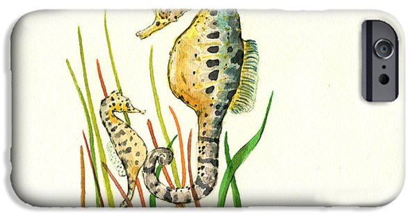 Seahorse Mom And Baby IPhone 6s Case by Juan Bosco