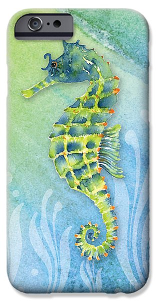 Seahorse Blue Green IPhone 6s Case by Amy Kirkpatrick