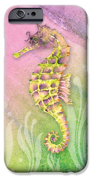 Seahorse Violet IPhone 6s Case by Amy Kirkpatrick