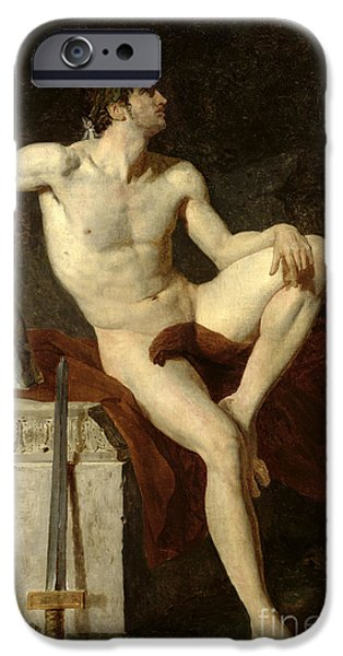Seated Gladiator IPhone Case by Jean Germain Drouais