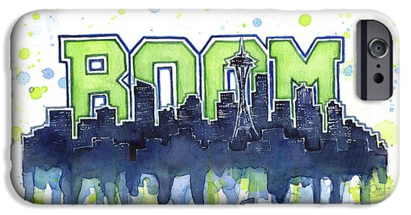Seattle 12th Man Legion Of Boom Watercolor IPhone 6s Case