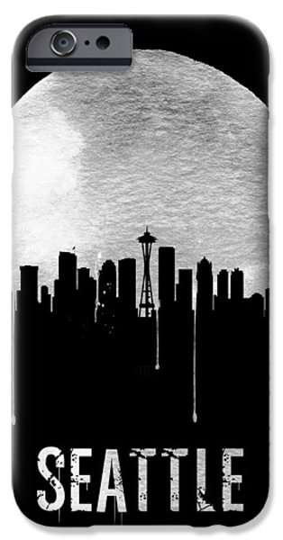 Seattle Skyline Black IPhone 6s Case by Naxart Studio