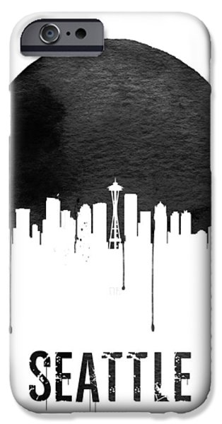 Seattle Skyline White IPhone 6s Case by Naxart Studio