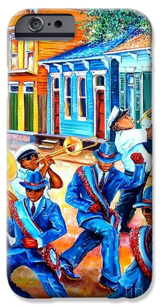 Trombone iPhone 6s Case - Second Line In Treme by Diane Millsap