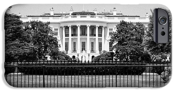 Whitehouse iPhone 6s Case - security fencing outside the southern facade of the white house Washington DC USA by Joe Fox