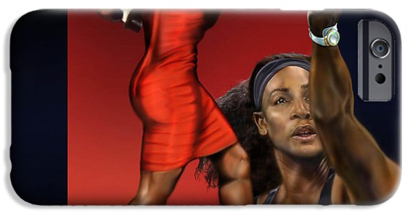 Serena Williams iPhone 6s Case - Sensuality Under Extreme Power - Serena The Shape Of Things To Come by Reggie Duffie