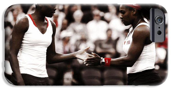Venus Williams iPhone 6s Case - Serena And Venus Williams by Brian Reaves