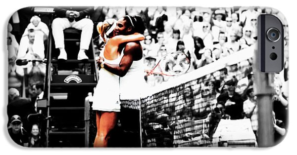 Venus Williams iPhone 6s Case - Serena Williams And Angelique Kerber 1a by Brian Reaves