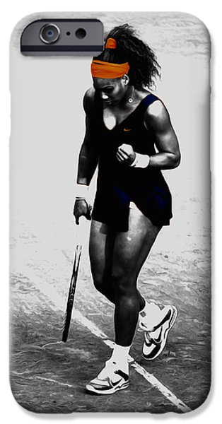 Serena Williams iPhone 6s Case - Serena Williams Match Point 3a by Brian Reaves