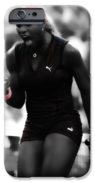 Serena Williams iPhone 6s Case - Serena Williams On Fire by Brian Reaves